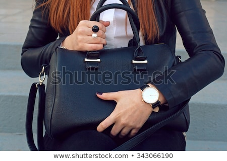 dames · horloge · handtas · juwelen · geïsoleerd · witte - stockfoto © restyler