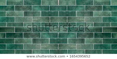 Shelf On A Black Tiled Wall Stock photo © albund
