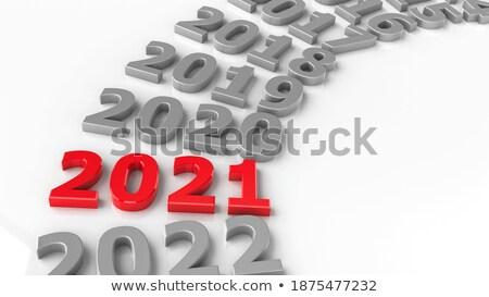 прошлое круга Новый год 3d иллюстрации бизнеса Сток-фото © Oakozhan