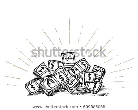 hand bursting from a money heap stock photo © ra2studio
