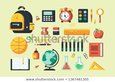 Back to School Bag and Books Ruler and Glue Set Stock photo © robuart