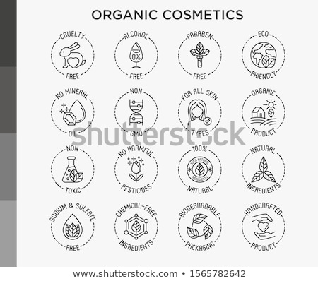 chemical and non chemical icon set stock photo © bspsupanut