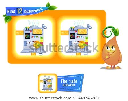 12 diferenças engraçado fruto crianças jogo Foto stock © Olena
