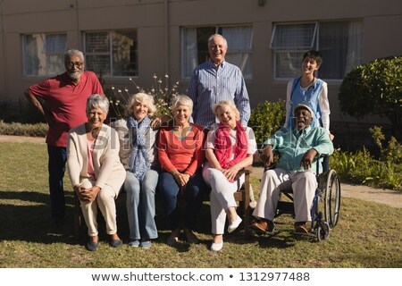 Portrait of active and diverse group of senior people posing in the park Stock photo © wavebreak_media