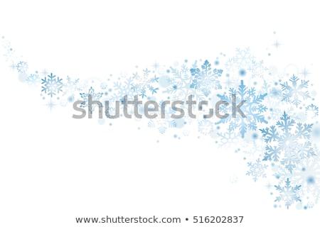 Karácsony hópelyhek zuhan hó tél elmosódott Stock fotó © SwillSkill