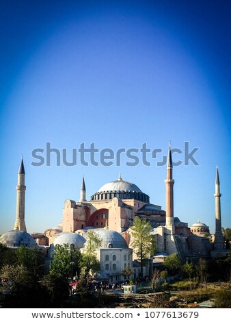 Decorative interior of Hagia Sophia in Istanbul, Turkey Stock photo © boggy