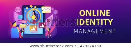 Online arculat vezetőség szalag fejléc pr Stock fotó © RAStudio