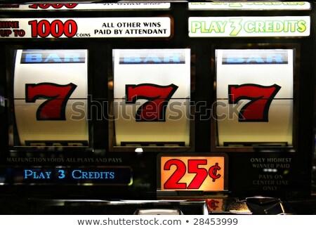 Játék gép szerencse szerencsés boldog szerencsejátékos Stock fotó © robuart