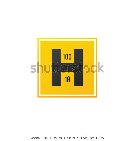 Yellow H fire hydrant location, Fire equipment signs fire hydran letter H Symbol safety sign. Stock  Stock photo © kyryloff