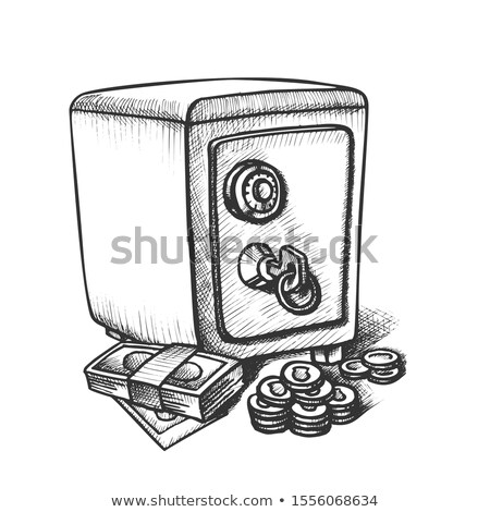 Money Banknotes, Coins And Metal Safe Ink Vector Stock photo © pikepicture