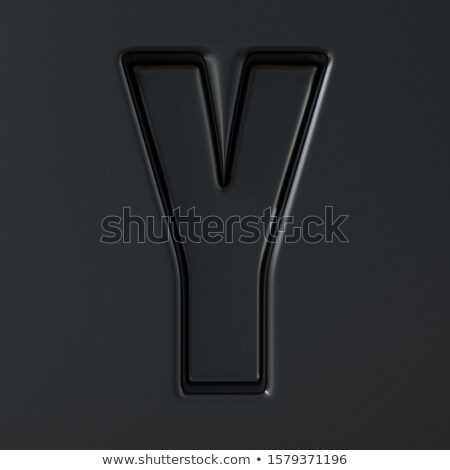 Black engraved font Letter Y 3D Stock photo © djmilic