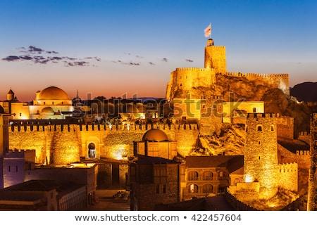 Zamek Gruzja średniowiecznej kompleks niebo kamień Zdjęcia stock © borisb17
