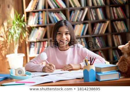 Ritratto felice teen girl giocare foresta Foto d'archivio © dashapetrenko