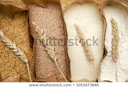 Brood tarwe meel steen tabel Stockfoto © karandaev