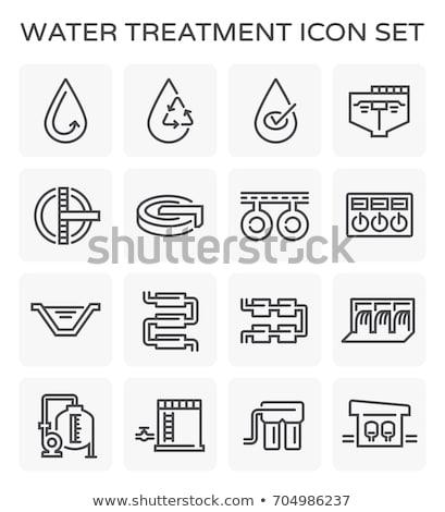 Víz kezelés ipari épület vektor ikon Stock fotó © pikepicture