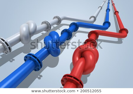 Oil pipe with knot. Transit crisis concept Stock photo © montego