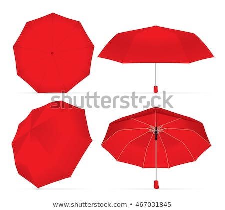 Rosso ombrello gestire ombrellone icona primo piano Foto d'archivio © robuart