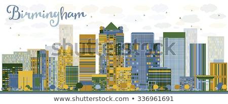 Abstract Birmingham (Alabama) Skyline with color Buildings Stock photo © ShustrikS