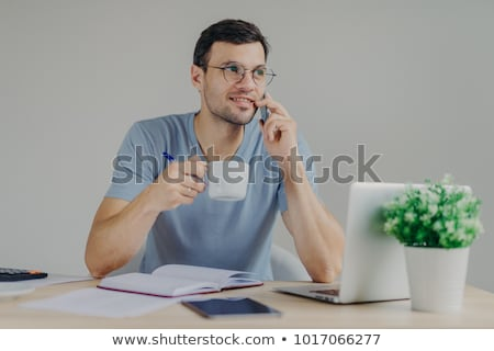 Kellemes néz férfi könyvelő szemüveg forró Stock fotó © vkstudio