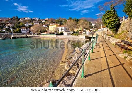 Opatija. Lungomare seafront walkway in Opatija Riviera view Stock photo © xbrchx