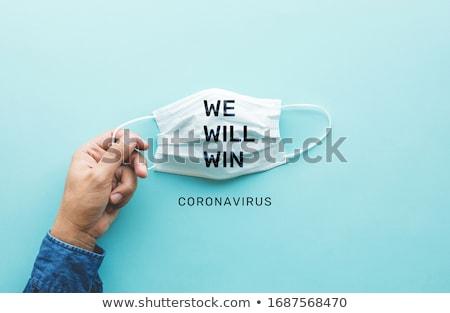 Lotta coronavirus stop cute virus Foto d'archivio © Zsuskaa