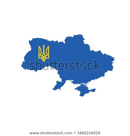 Harita Ukrayna kat silah simge stok Stok fotoğraf © kyryloff