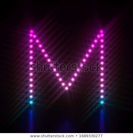 Pink blue dot light font Letter M 3D Stock photo © djmilic