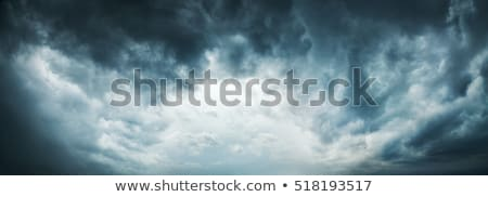 Dark Ominous Stormy Cloudy Sky Banner Stock photo © feverpitch