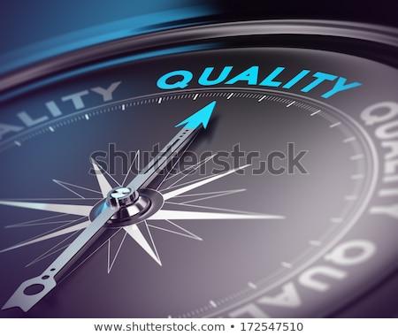 3D Compass with Needle Pointing the Text: Quality. Stock photo © tashatuvango