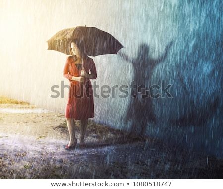 Stock photo: caught in the storm