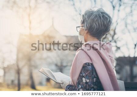 Starszy kobieta modląc koniec koronawirus kryzys Zdjęcia stock © Kzenon