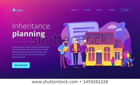 Planowania lądowanie strona nieruchomości Zdjęcia stock © RAStudio