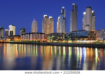 Buenos Aires Skyline with Color Landmarks and Blue Sky.  Stock photo © ShustrikS