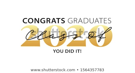 Félicitations diplômés classe typographie texte isolé Photo stock © Zsuskaa