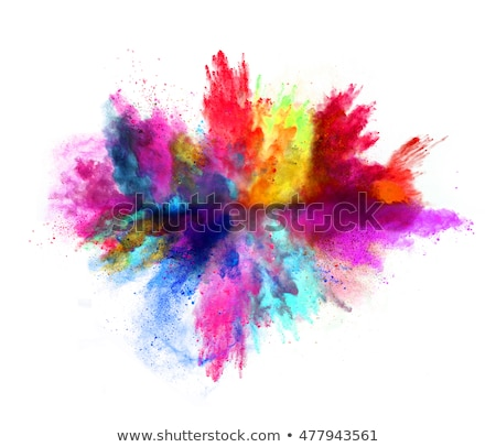 Kleurrijk poeder stof explosie witte abstract Stockfoto © artjazz