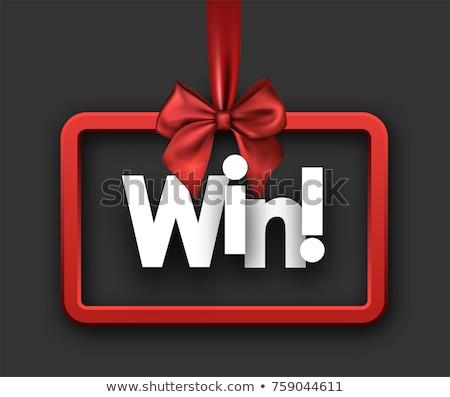 Vencedor parabéns vetor cartaz silhueta Foto stock © barsrsind