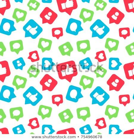 Fényes színes ikonok közösségi hálózatok barátok hozzászólások Stock fotó © evgeny89
