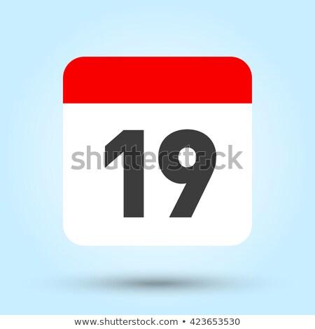 Semplice nero calendario icona 19 dicembre Foto d'archivio © evgeny89