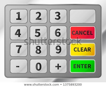 Bright realistic ATM keypad. Metallic glossy keyboard of automated teller machine Stock photo © evgeny89