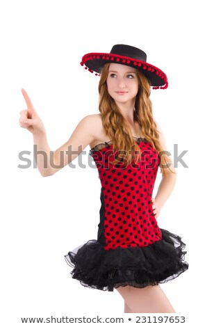 Jonge meisje jurk sombrero Stockfoto © Elnur