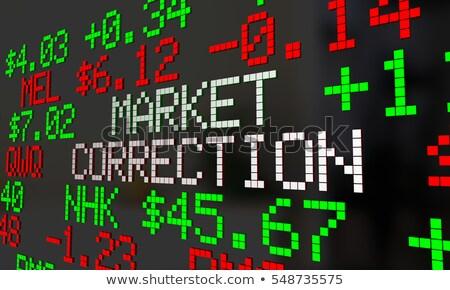 Mercato correzione perdita corporate reddito business Foto d'archivio © Lightsource