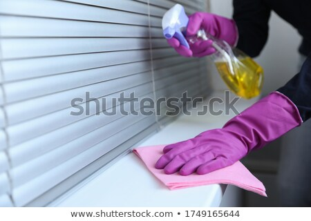 Surface disinfecting home cleaning with sanitizing antibacterial wipes protection against COVID-19 s Stock photo © Maridav