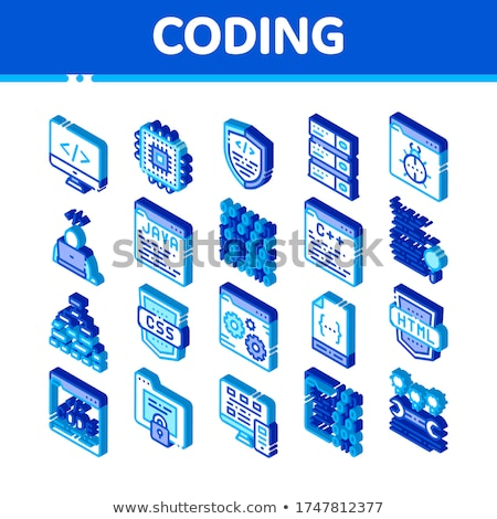 Codificación idioma css icono vector Foto stock © pikepicture