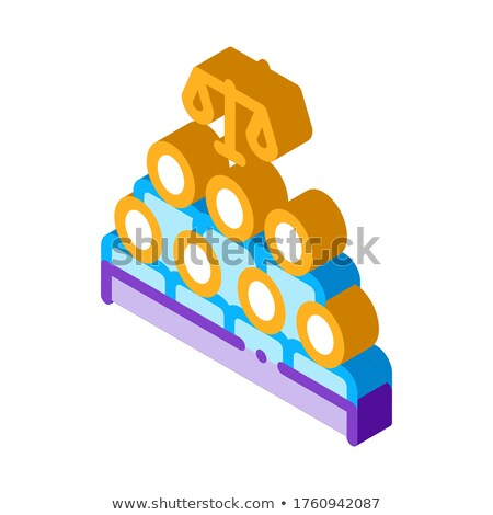 Court Sitting Law And Judgement isometric icon vector illustration Stock photo © pikepicture