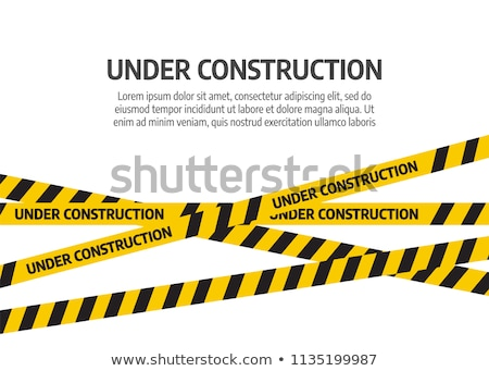 Stock photo: under construction barrier