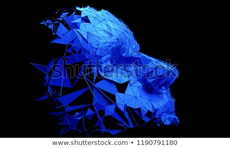 Stockfoto: Abstract Human - Digital - Blue Eye