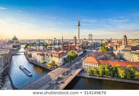 Stockfoto: Berlijn · gedetailleerd · vector · skyline · business · stad