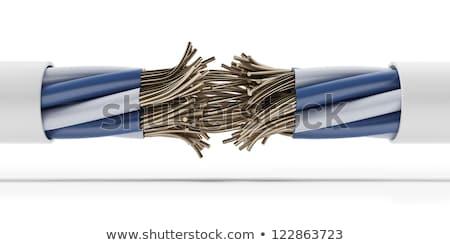 elektrik · kablolar · grup · yalıtılmış · beyaz · teknoloji - stok fotoğraf © solarseven