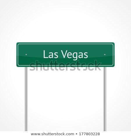 грех город шоссе знак зеленый облаке деньги Сток-фото © kbuntu