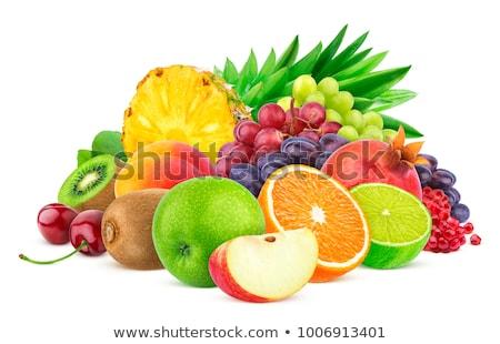 frutas · blanco · fondo · alimentos · manzana - foto stock © luiscar